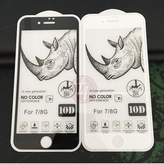 Kính cường lực iPhone 10D Tê Giác Loại 1 FREESHIP Cho 6 7 6Plus 7Plus X XR XsMax 11 11Pro 11ProMax 3