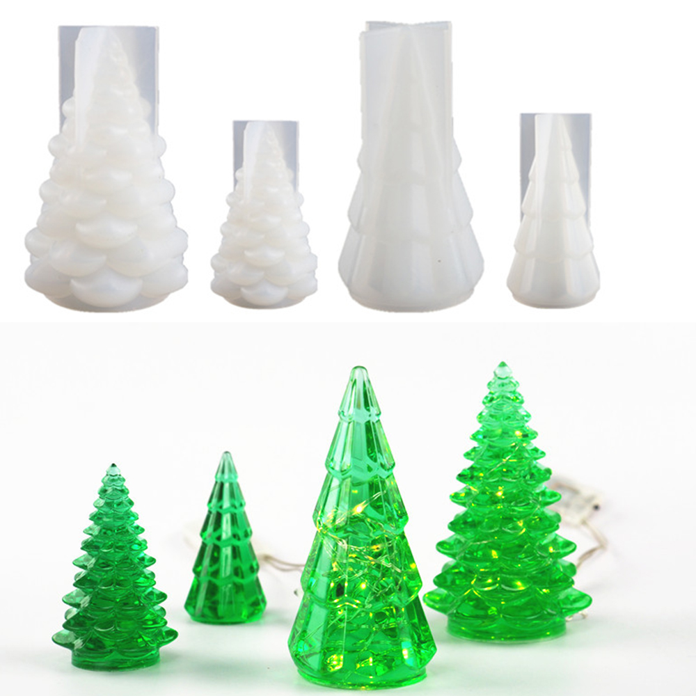 🌱FOREVER🌱 NEW Christmas Tree Light Handmade Epoxy Casting Resin Molds Art Silicone Moulds Jewelry Making Tools DIY Craft|Epoxy Mold