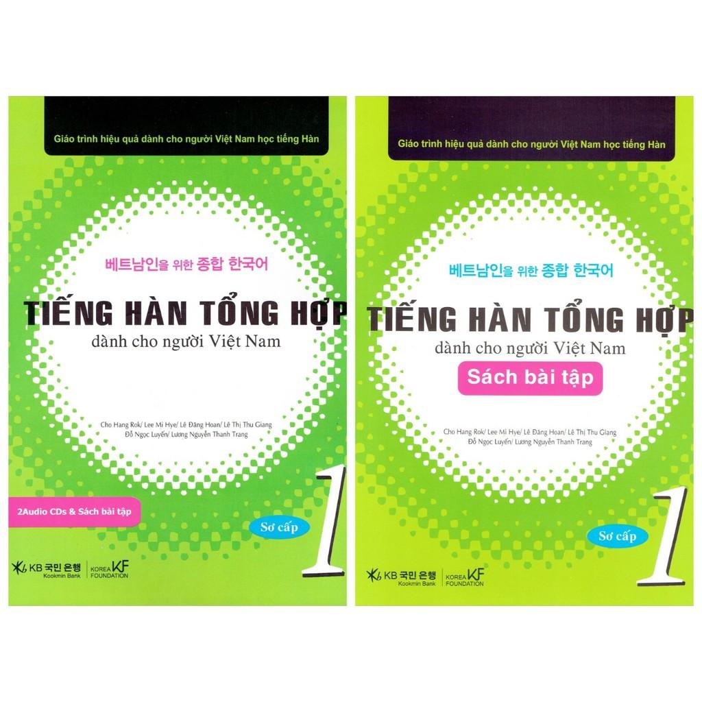 Sách Tiếng hàn tổng hợp dành cho người Việt Nam (1 lý thuyết +1 bài tập + kèm CD)