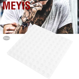 Meyis 20 pcs disposable tattoo ink plate food grade plastic holder tray accessories for eyebrow lip tattoos