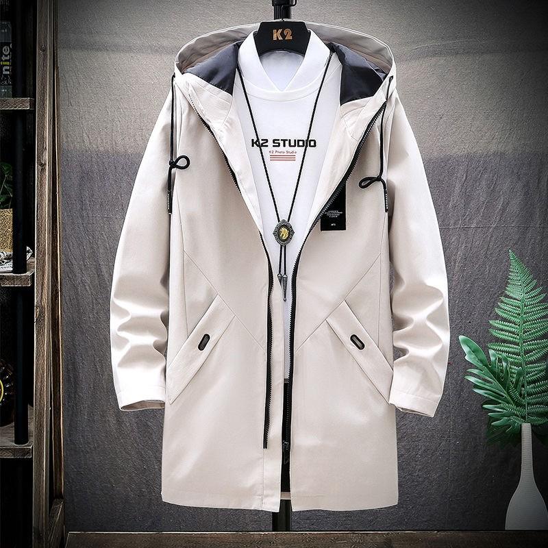 áo khoác kaky nam thu và đông loat lông dài và kaky mỏng Thời Trang Thu Đông 2021