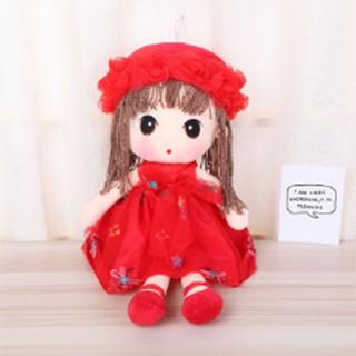 Búp bê đồ chơi sang trọng (món quà sinh nhật )( màu đỏ )