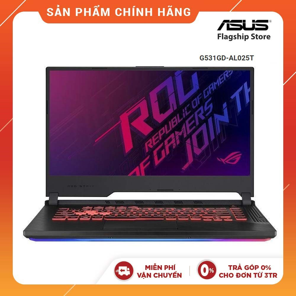 "Laptop Asus ROG Strix G G531GD-AL025T i5-9300H I 8GB I 512GB I GeForce GTX 1050 4GB I 15,6""FHD IPS 120Hz"