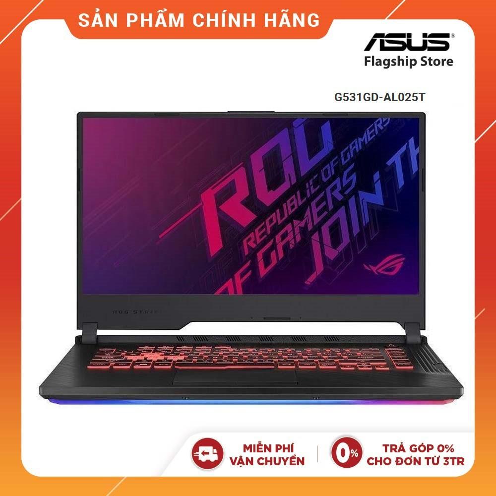 [Mã ELLAPDESK giảm 5% đơn 3TR] Laptop Asus ROG Strix G G531GD-AL025T i5-9300H I 8GB I 512GB I GeForce GTX 1050 4GB 15,6