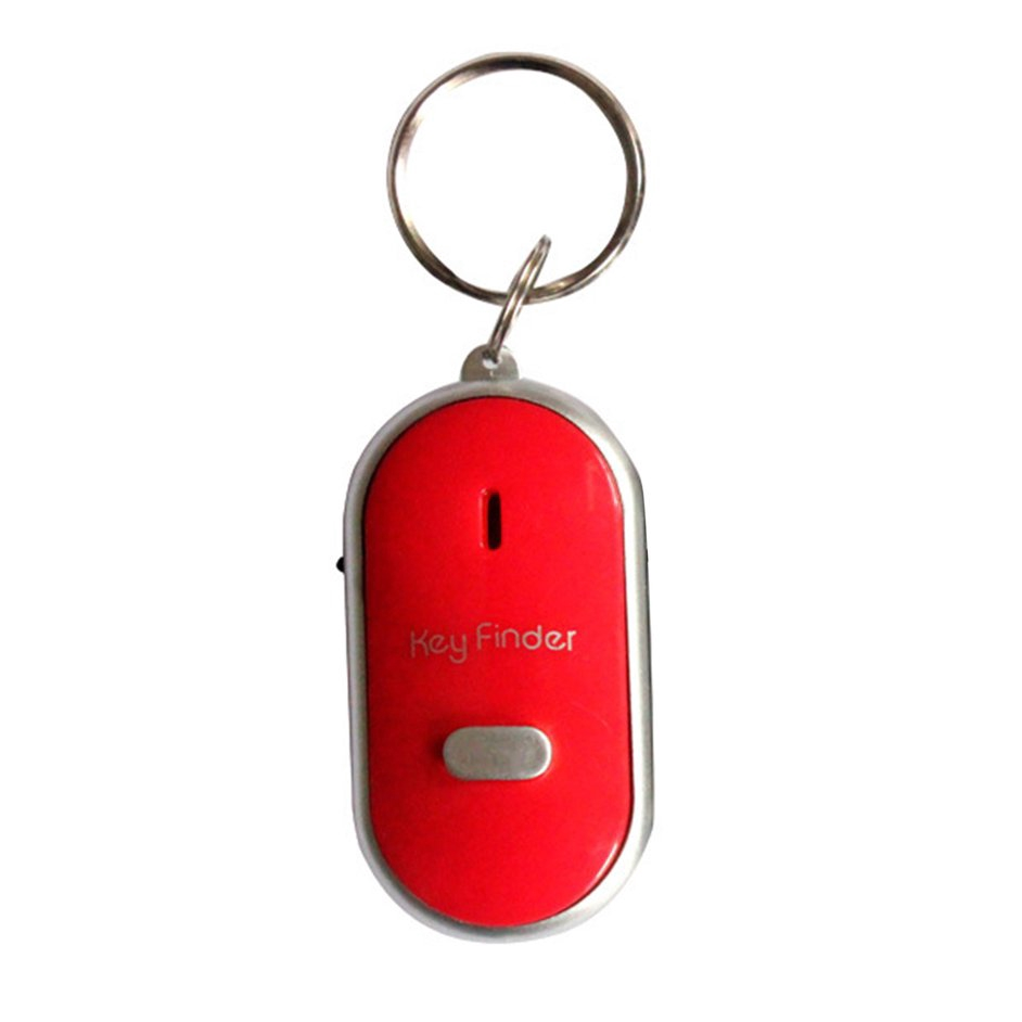 S+Anti-Lost Key Finder Whistle Find Locator Keychain Sound Control LED Torch
