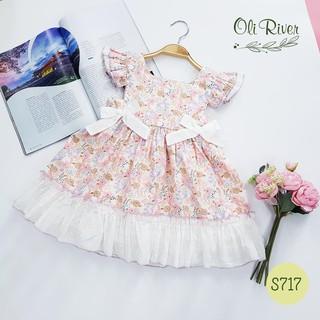 Oliriver-Váy Merry tay cánh tiên-S717