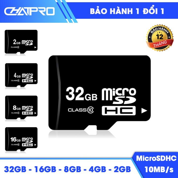 Thẻ nhớ Micro SD, Micro SDHC Class 10 dung lượng 32GB – 16GB – 8GB – 4GB