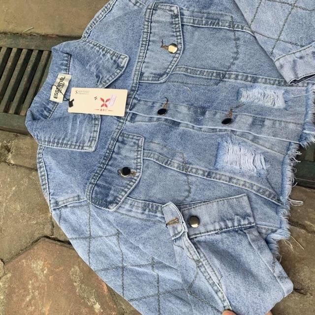 Áo khoác bò croptop hàng QC L1 siêu đẹp luôn, jean dày đẹp form chất chuẩn 100% nhé 😘