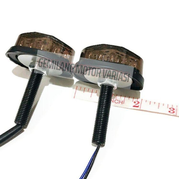 -☌ Đèn Led xi nhan Mini R15 V3 V2 Cbr 150R Gsx R150 Ninja TST GMA h hình bầu dục