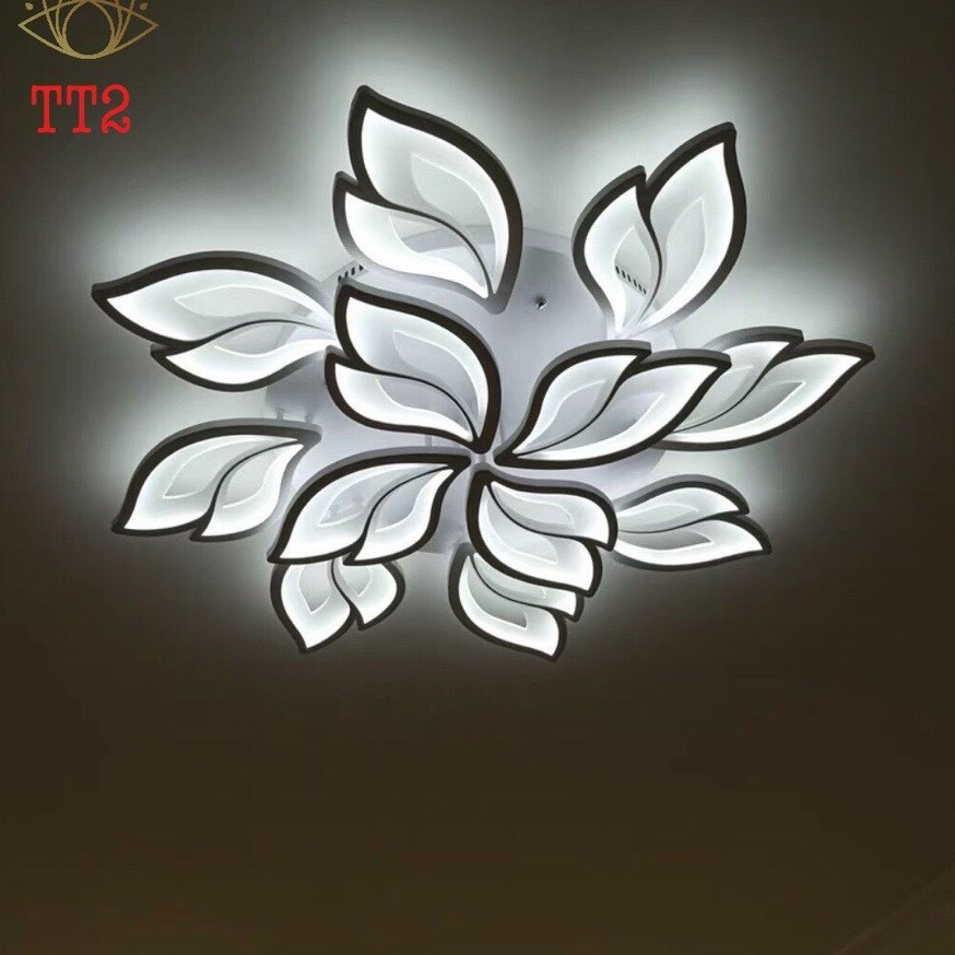 Đèn trần LED mâm 3 màu ánh sáng V2 có điểu khiển từ xa tiện dụng dùng cho trang trí phòng khách, phòng ngủ tuyệt đẹp