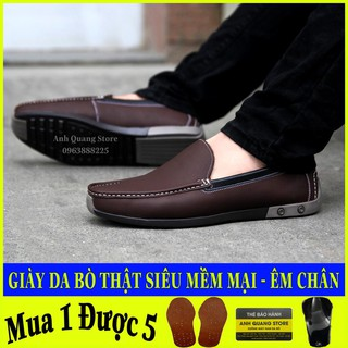 Giày da nam cao cấp – da bò nhập khẩu nguyên tấm – phong cách trẻ trung hiện đại AQ001