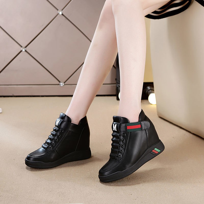 ▦ﺴIn spring and autumn to increase the small white shoe women's shoes 2019 new high-pitched sneakers hundred thick bott