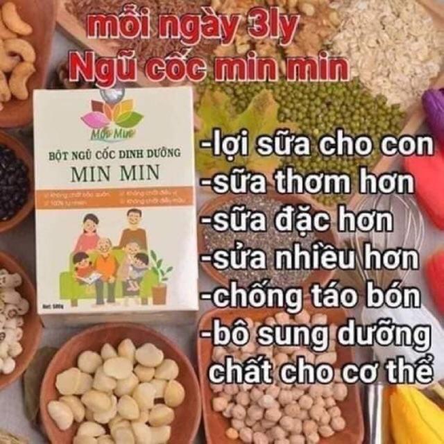 Ngũ cốc lợi sữa, ngũ cốc mẹ bầu, ngũ cốc dinh dưỡng Min Min(500g)