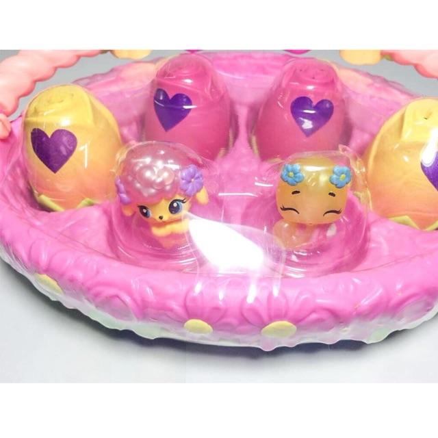 Giỏ trứng hoa hồng Hatchimals chính hãng