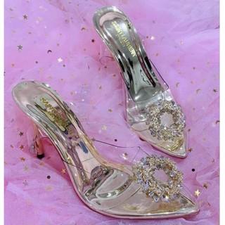 [Freeship] Giày cao gót quai trong bông lúa size 34 đến size 40 thumbnail