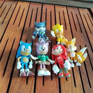 Bộ 6 Mô Hình Nhân Vật Sonick Super Sonick Trang Trí