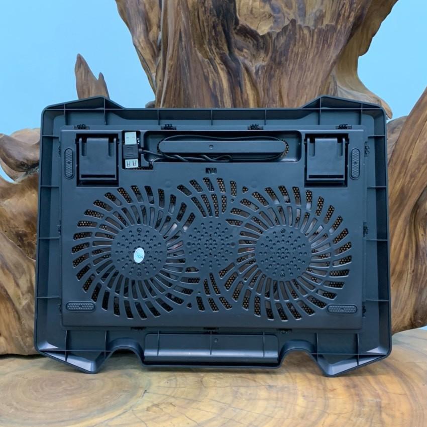 Đế Tản Nhiệt Laptop Cooler Pad S200 - 2 Fan CÓ ĐÈN LED - Đế Nâng Laptop 17 Inch Trở Xuống - Full Box, Hàng chính hãng