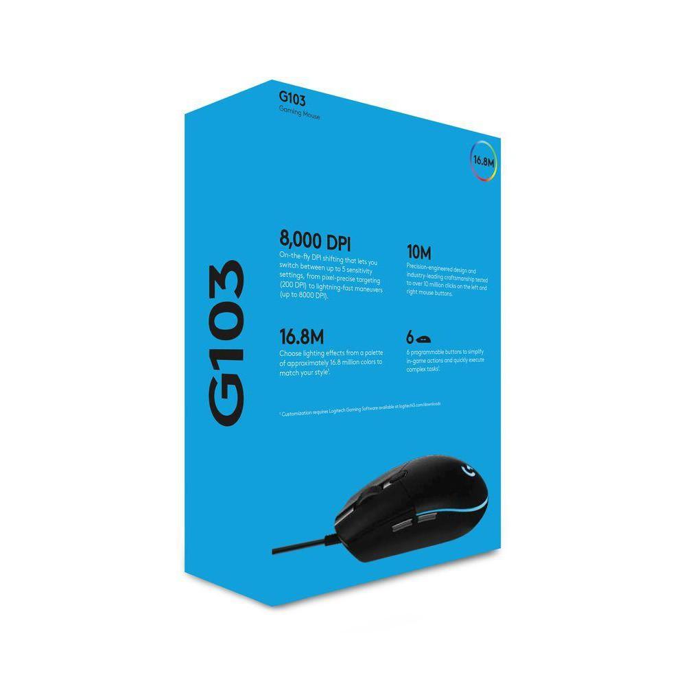 Chuột Gaming Logitech G102 Lightsync RGB LED-8.000 DPI | Hàng Chính Hãng | Bảo Hành 24 Tháng | Phân Phối Bởi DIGIWORLD
