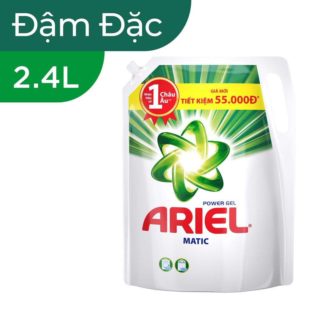 Hình ảnh [HCPGSBD - 15% tối đa 50K đơn 199K ]Ariel Matic nước giặt Túi 2.4Kg-0