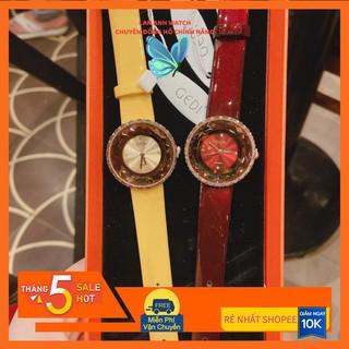 Đồng Hồ nữ -Dây da đẹp gedi chính hãng mặt tròn chống nước cao cấp mặt nhỏ thời trang thiết kế trẻ trung sang trọng