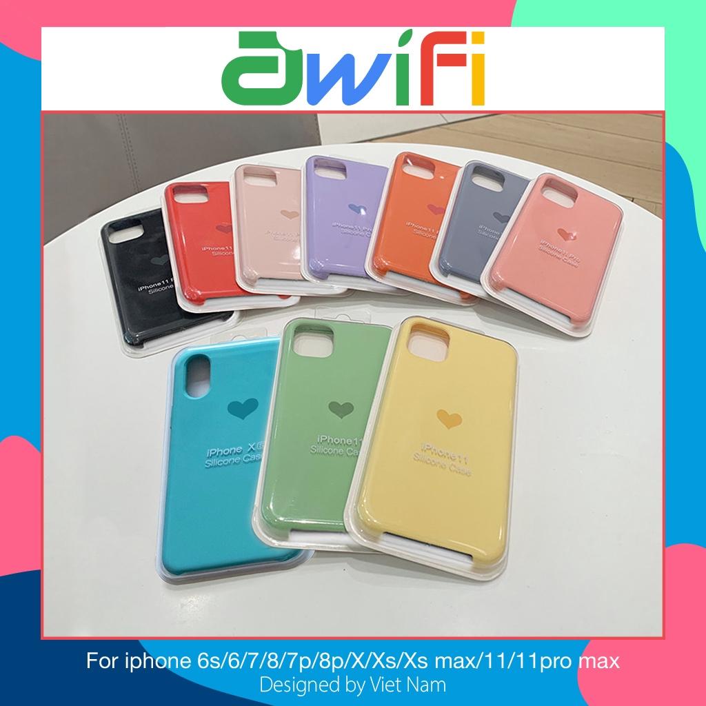 Ốp iphone - Ốp lưng Chống Bẩn Trái Tim 6/6s/6plus/6s plus/7/8/7plus/8plus/x/xs/xs max/11/11pro max - Awifi Case GT-B