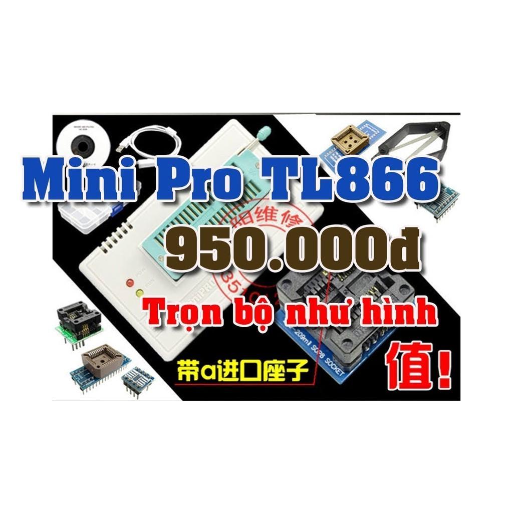 Minipro TL866 + các đế nạp thông dụng