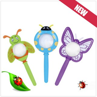 Kids Cute Cartoon Plastic Handheld Insect Magnifier Originality Toy Gift for