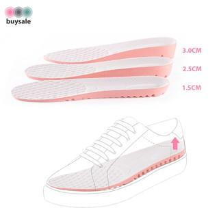 Lót giày nữ độn đế cao su non kiểu tổ ong tăng chiều cao 1.5cm, 2.5cm, 3cm - Hồng phối xám nhạt - buysale - BSPK156