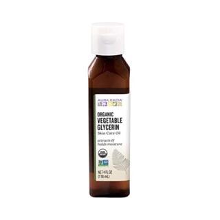 [Mẫu mới] Glycerin thực vật Organic Aura Cacia 120ml