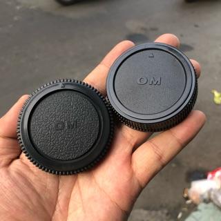 Bộ Cap (nắp) Body + Cap Đuôi Lens Máy Ảnh Phim Olympus OM thumbnail