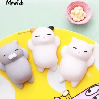Funny Soft Cat Squishy Squeeze Kid Toy Gift Stress Reliever Phone Decor Gift