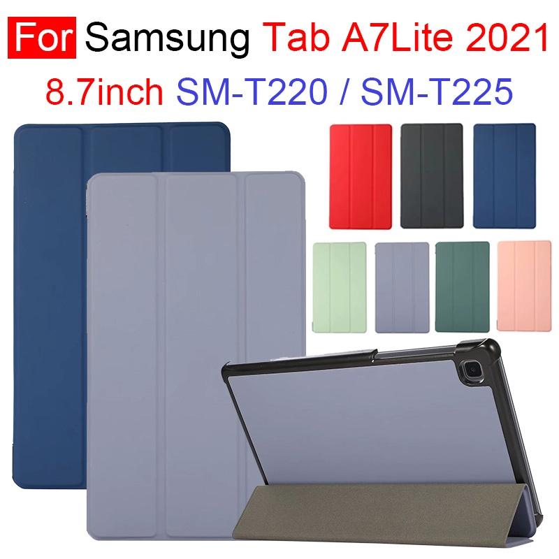 Bao Da Máy Tính Bảng Nắp Gập Từ Tính Chống Dấu Vân Tay Cho Samsung Galaxy Tab A7 Lite 20201 8.7inch T220 T225 Ốp