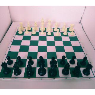 Bộ cờ vua cá nhân tiêu chuẩn size nhỏ bàn simili 1 hậu