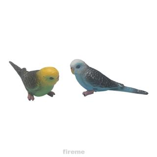 Wildlife Vivid Figurine Plastic Animal Home Decor Bird Model Simulation Parrot