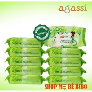 Combo 5g Khăn ướt bỏ túi 20 tờ agassi thumbnail