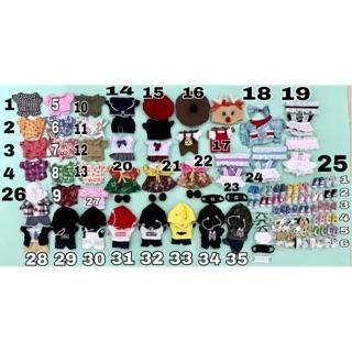 (Số 1-17) Set outfit cho Doll – Quần áo cho Doll