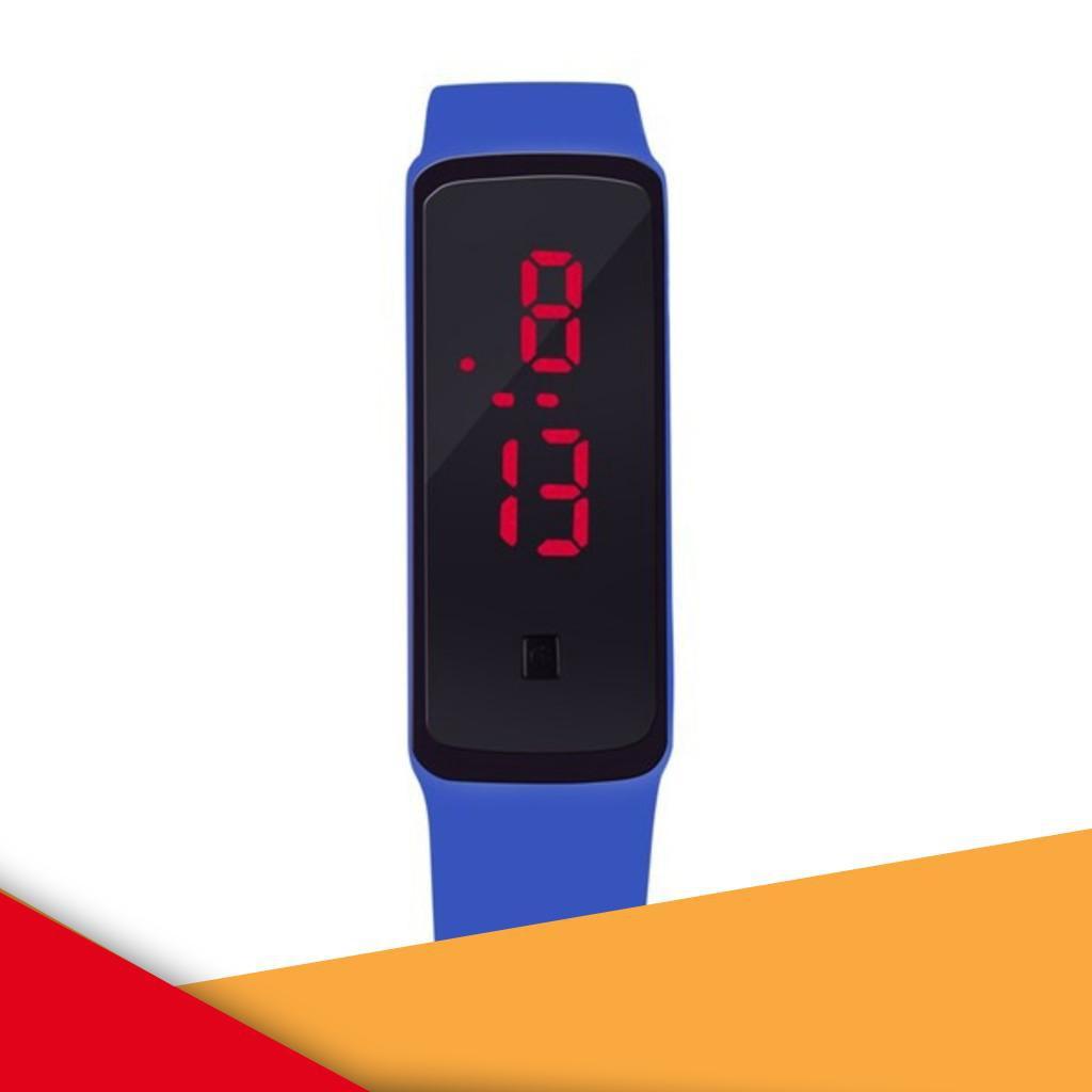 Đồng hồ đèn LED Unisex dây silicone GEX (Xanh da trời) -DC1281XD. | TẠI CẦU GIẤY