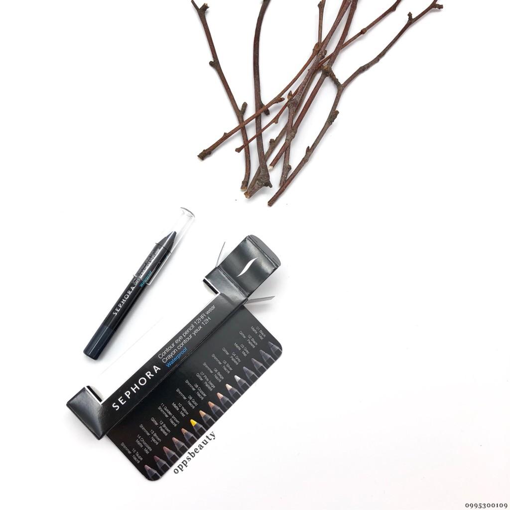 [Sephora] Chì kẻ mắt lì chống nước 12 giờ//Contour Eye Pencil 12hr Wear Waterproof