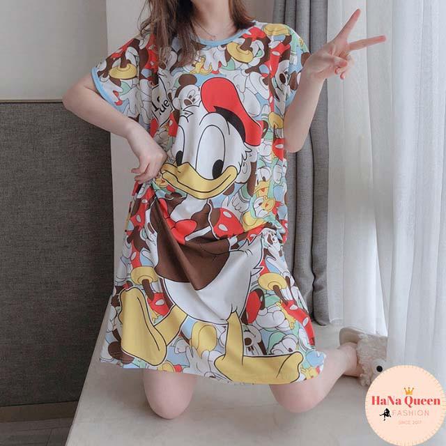 [Sẵn Hàng] Váy ngủ, váy mặc nhà freesize nhiều họa tiết cực kỳ dễ thương