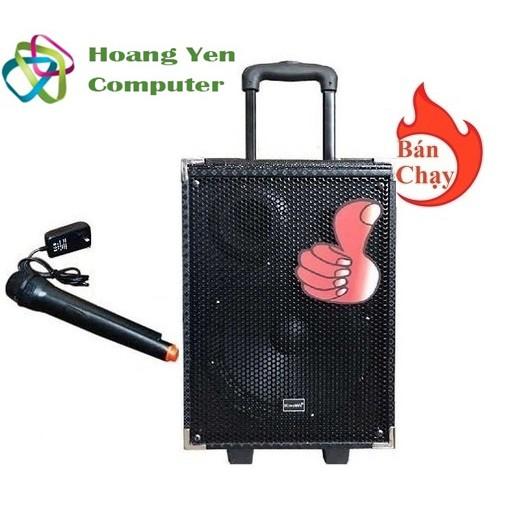 Loa kéo karaoke bluetooth Kiomic Q8 điều chỉnh Bass - BH 6 tháng