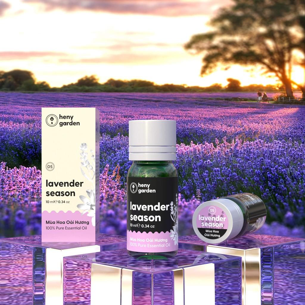 Tinh Dầu Oải Hương (Lavender Season) Heny Garden – Nguyên Chất, Xông Thơm Phòng Ngủ – 10ml – [Tặng 3 Mẫu Thử]