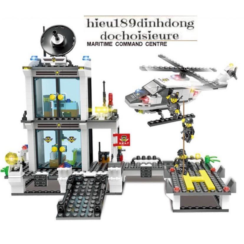 Lắp ráp xếp hình Lego City : trung tâm chỉ huy cảnh sát đặc nhiệm swat cỡ siêu lớn 2322...