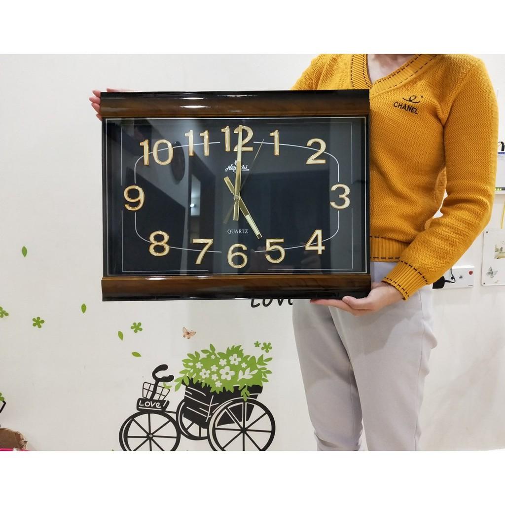 Đồng hồ treo tường DẠ QUANG Vuông 50cm ✌️✌️✌️ - SIZE LỚN