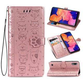 Bao Da Điện Thoại Nắp Lật Kèm Ngăn Đựng Thẻ Chống Sốc Cho Samsung Galaxy A10 A20 A30 / A40 Samsung Galaxy A50 / A30s A50s Vỏ