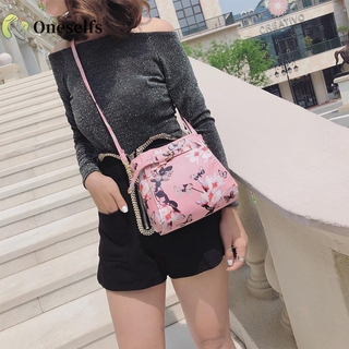 OS♚COD√4pcs/set Shoulder Bags Clutch Women PU Leather Messenger Flower Print Bags