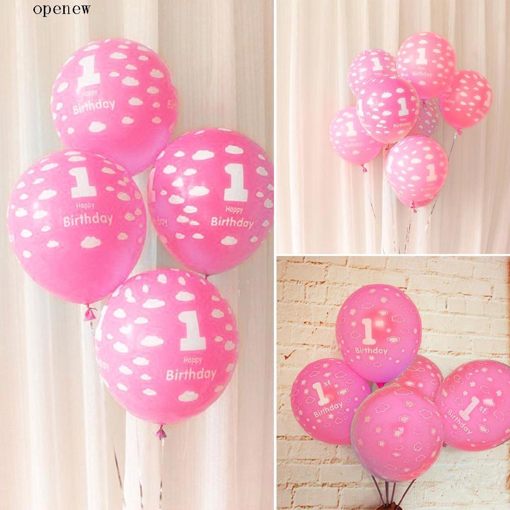 op 12 Inches Latex Pink Birthday Decoration Balloons