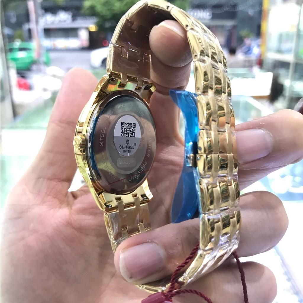 Đồng hồ nam SUNRISE 782SWAVD Full hộp, thẻ bảo hành chính hãng, Kính Sapphire chống