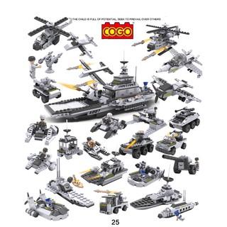 Bộ đồ chơi xếp hình Lego tàu chiến 8 trong 1