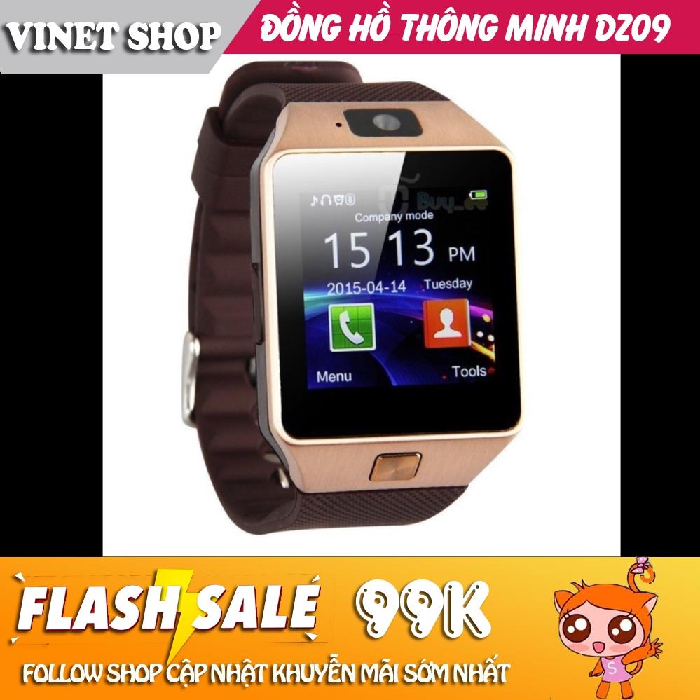 Đồng hồ thông minh smartwatch DZ09/Q18 VINET Có Tiếng Việt -D