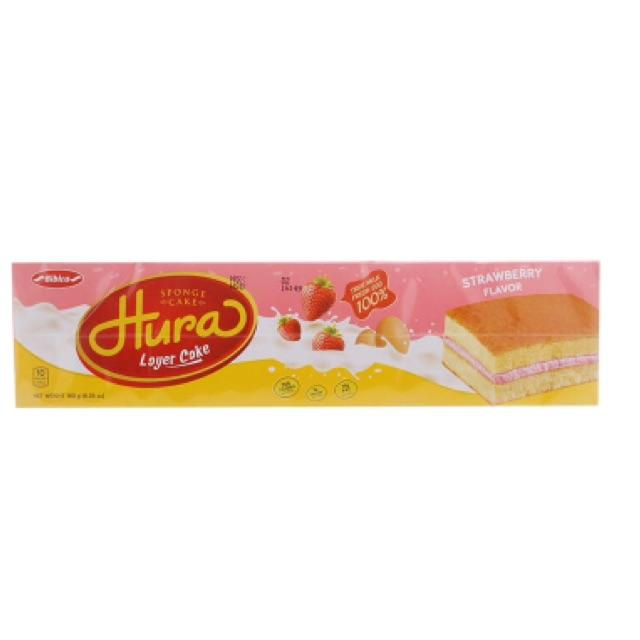 Bánh bông lan kem hương dâu Hura 180g - 2494535 , 316742425 , 322_316742425 , 35000 , Banh-bong-lan-kem-huong-dau-Hura-180g-322_316742425 , shopee.vn , Bánh bông lan kem hương dâu Hura 180g